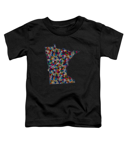 Minnesota Map - 2 Toddler T-Shirt