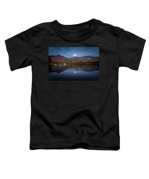 Moon Set At Sandy Stream Pond, Baxter State Park Toddler T-Shirt