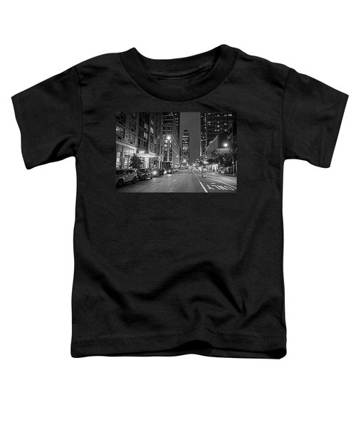 New York City Gotham West Market New York Ny Black And White Toddler T-Shirt