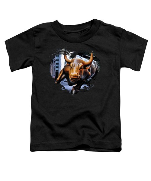 New York City Wall Street Charging Bull Toddler T-Shirt