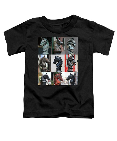 Nine Horse Head Hitching Posts Toddler T-Shirt