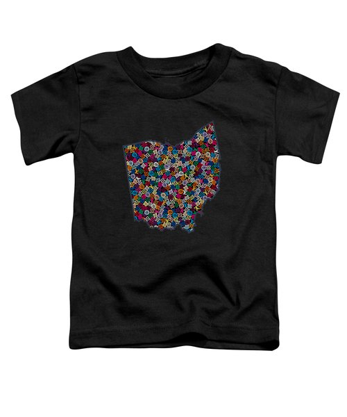 Ohio Map - 2 Toddler T-Shirt