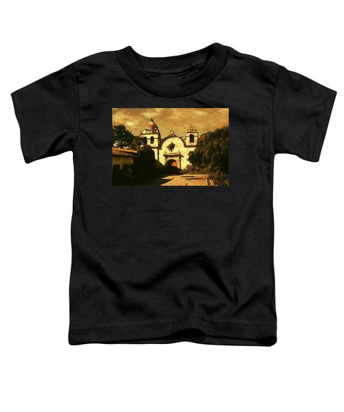 Old Carmel Mission - Watercolor Painting Toddler T-Shirt