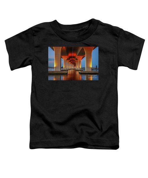 Orange Light Bridge Reflection Toddler T-Shirt