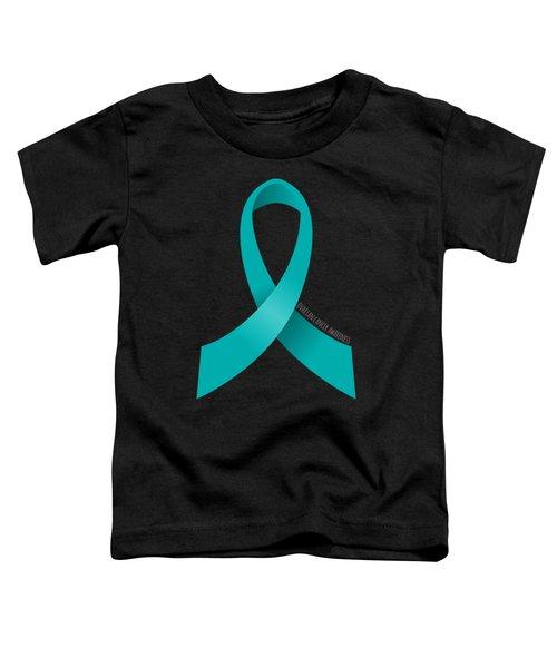 Ovarian Cancer Awareness Ribbon Toddler T-Shirt