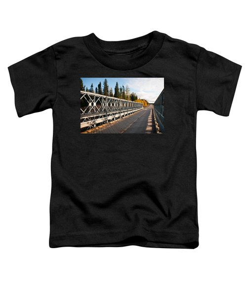 Toddler T-Shirt featuring the photograph Over The River by Carl Young