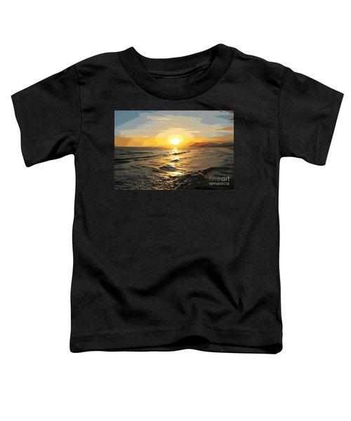 Pacific Sunset Impressionism, Santa Monica, California Toddler T-Shirt