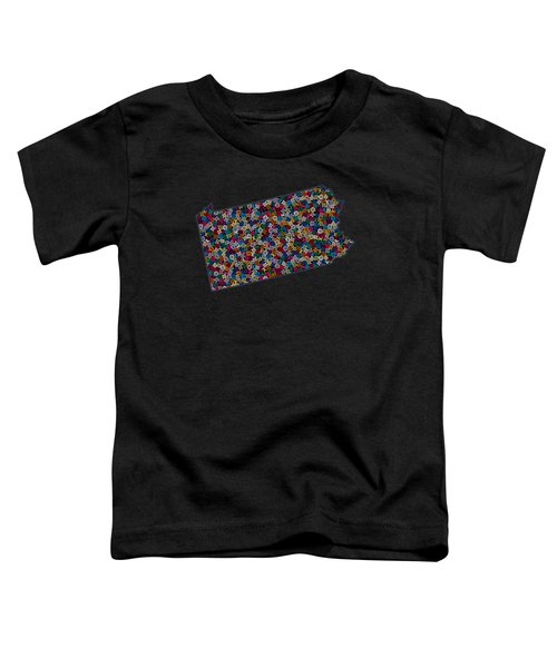 Pennsylvania Map - 2 Toddler T-Shirt