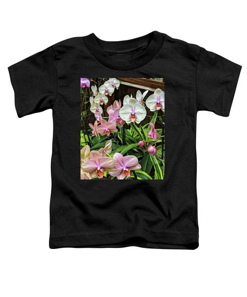 Pink And  White Orchids Toddler T-Shirt