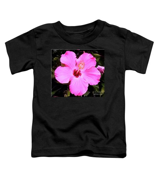 Pink Hibiscus Toddler T-Shirt