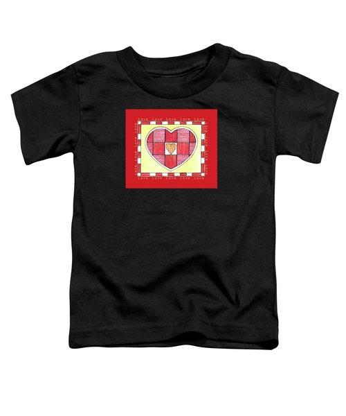 Pinstripe Heart Toddler T-Shirt