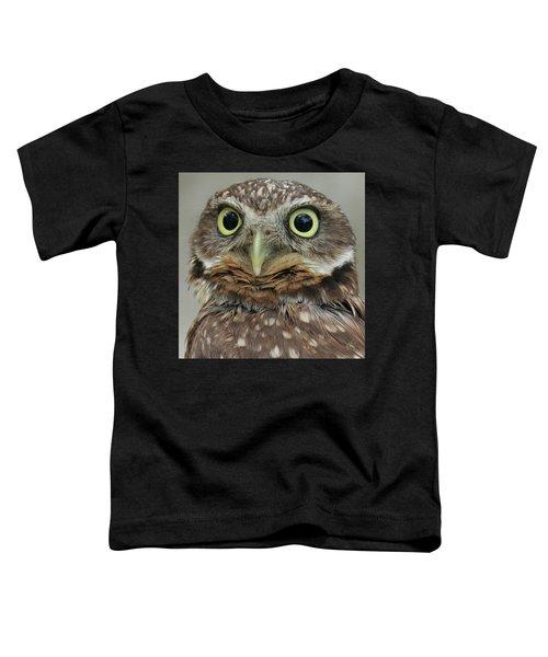 Portrait Of Burrowing Owl Toddler T-Shirt