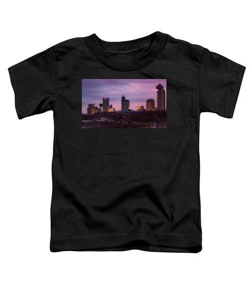 Purple Haze Skyline Toddler T-Shirt