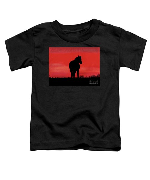 Red Sunset Horse Toddler T-Shirt