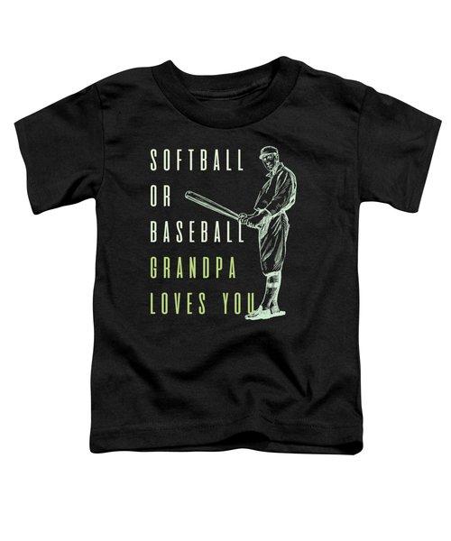 Reveal Shirt Softball Or Baseball Tshirt Toddler T-Shirt