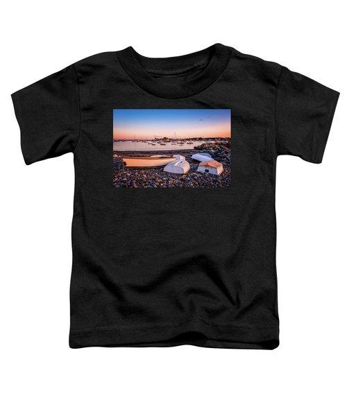 Rowboats At Rye Harbor, Sunset Toddler T-Shirt