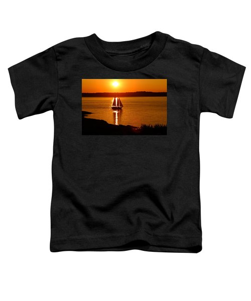 Sailing At Sunset Toddler T-Shirt