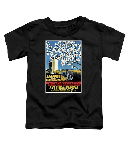 Salone Delle Macchine Agricole - Padova, Padua, Italy - Retro Travel Poster - Vintage Poster Toddler T-Shirt