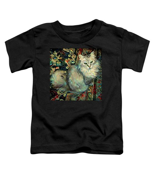 Samson The Silver Maine Coon Cat Toddler T-Shirt