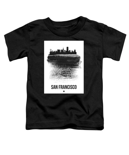 San Francisco Skyline Brush Stroke Black Toddler T-Shirt