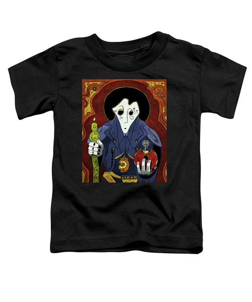 Toddler T-Shirt featuring the painting Shadow Priest by Sotuland Art