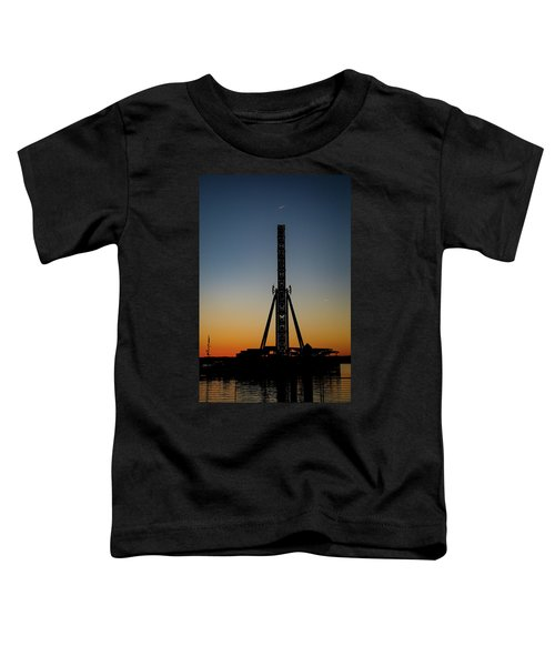 Silhouette Of A Ferris Wheel Toddler T-Shirt