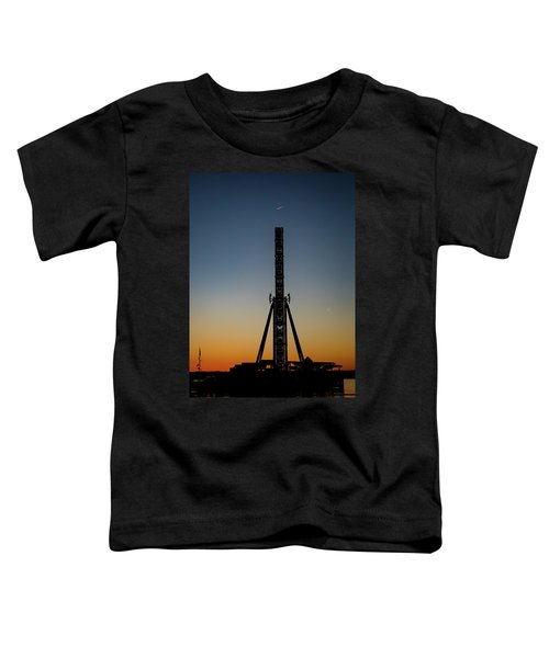 Silhouette Of A Ferris Wheel Toddler T-Shirt
