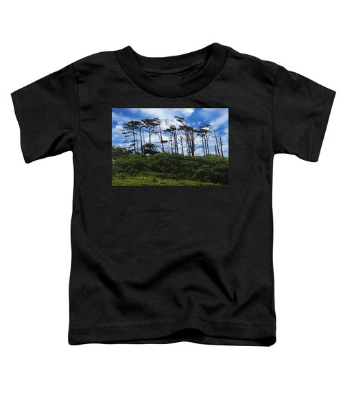 Silhouettes Of Wind Sculpted Krumholz Trees  Toddler T-Shirt