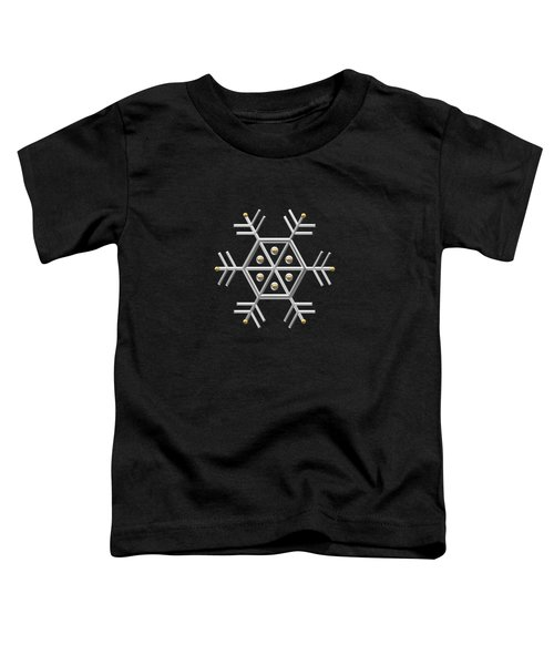 Silver And Gold Snowflake 2 At Midnight Toddler T-Shirt