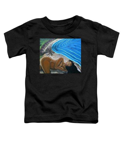 Sleeping Nude Toddler T-Shirt