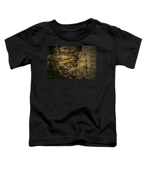 Smashed Wooden Wall Toddler T-Shirt