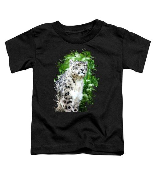 Snow Leopard, Leopard Art, Animal Decor, Nursery Decor, Game Room Decor,  Toddler T-Shirt