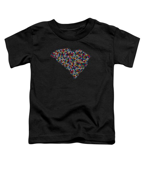 South Carolina Map - 2 Toddler T-Shirt