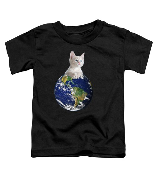 Space Kitten Ruler Of Earth Funny Toddler T-Shirt