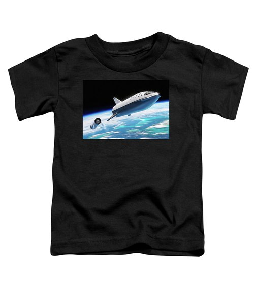 Spacex Bfr Big Falcon Rocket With Earth Toddler T-Shirt