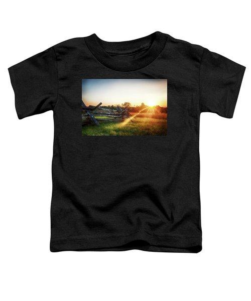 Split-rail Sunset Toddler T-Shirt