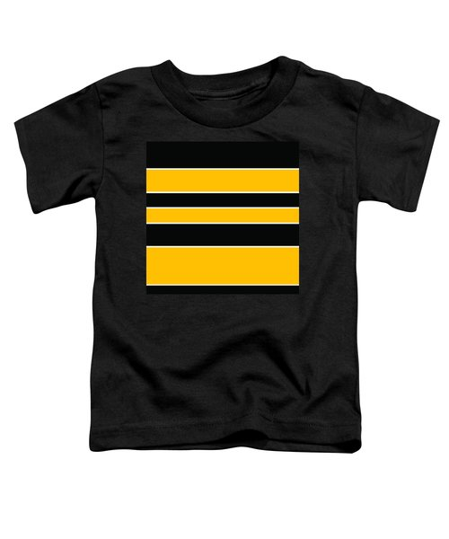 Stacked - Black And Yellow Toddler T-Shirt