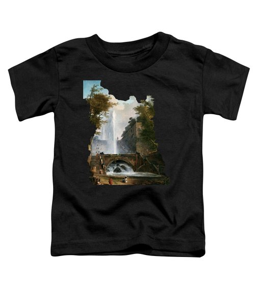Stair And Fountain In The Park Of A Roman Villa Toddler T-Shirt