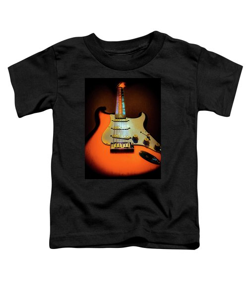 Stratocaster Triburst Glow Neck Series Toddler T-Shirt