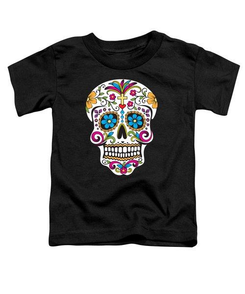 Sugar Skull Day Of The Dead Toddler T-Shirt