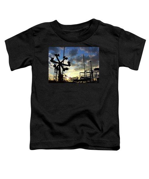 Sunset On Coney Island Toddler T-Shirt