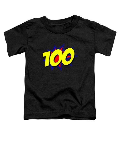 Superhero 100 Years Old Birthday Toddler T-Shirt