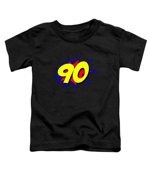 Superhero 90 Years Old Birthday Toddler T-Shirt