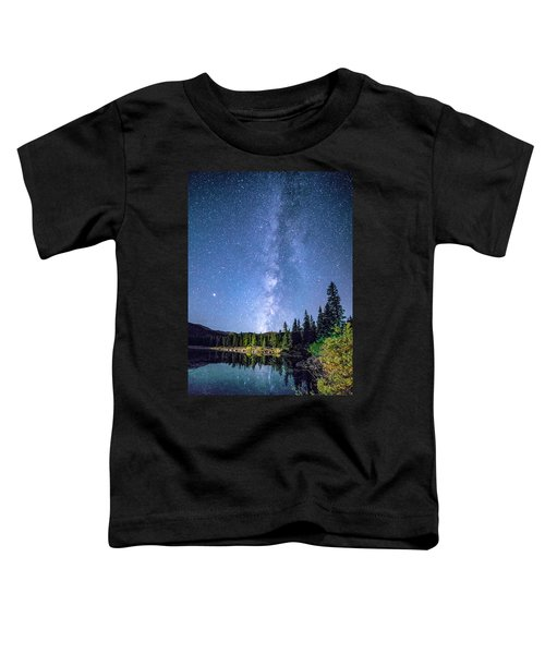 The Milky Way Over Echo Lake Toddler T-Shirt