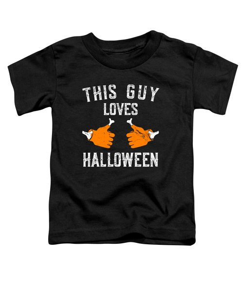 This Guy Loves Halloween Toddler T-Shirt