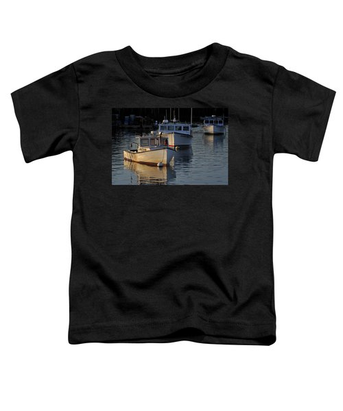 Three Boats In Maine Toddler T-Shirt