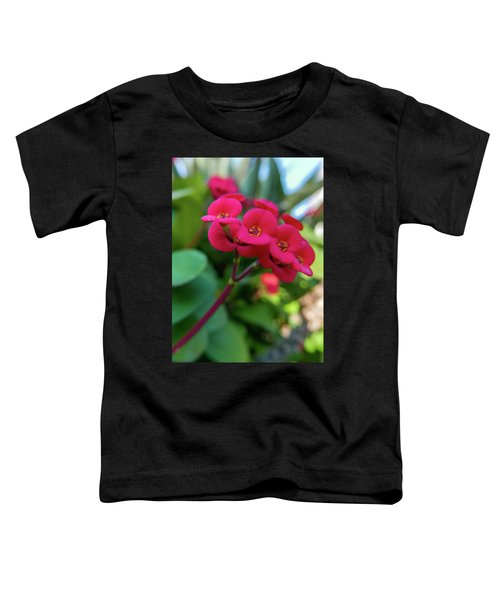 Tiny Red Flowers Toddler T-Shirt