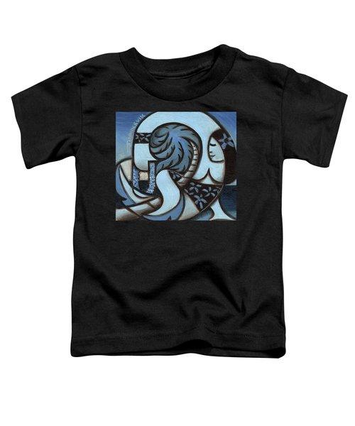 Tommervik Blue Hawaiian Woman Holding Lei Art Print Toddler T-Shirt