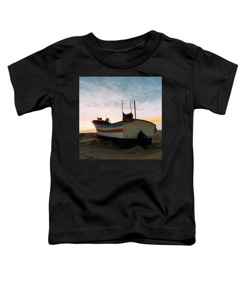Traditional Wooden Fishing Boat Toddler T-Shirt