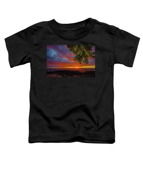 Tree  Sea And Sun Toddler T-Shirt